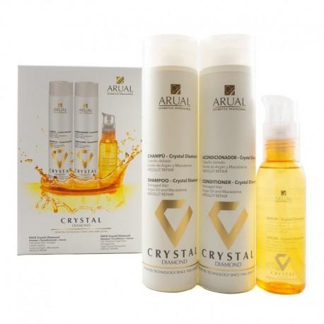 Arual Crystal Diamond rinkinys, šampūnas 250 ml, kondicionierius 250 ml, serumas 100 ml